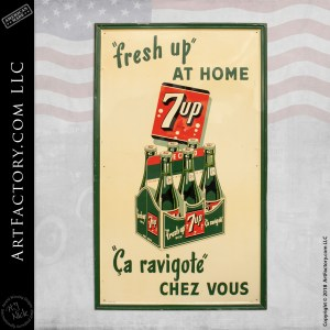 Vintage Canadian 7 Up Sign