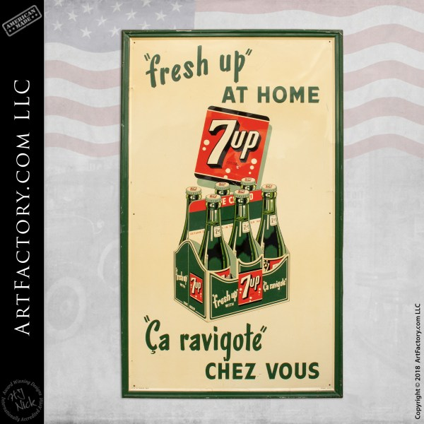 Vintage Canadian 7 Up Sign