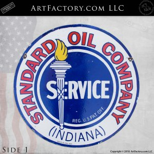 Standard Oil Company Indiana Sign