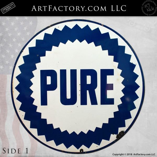 Vintage Round Pure Premium Sign