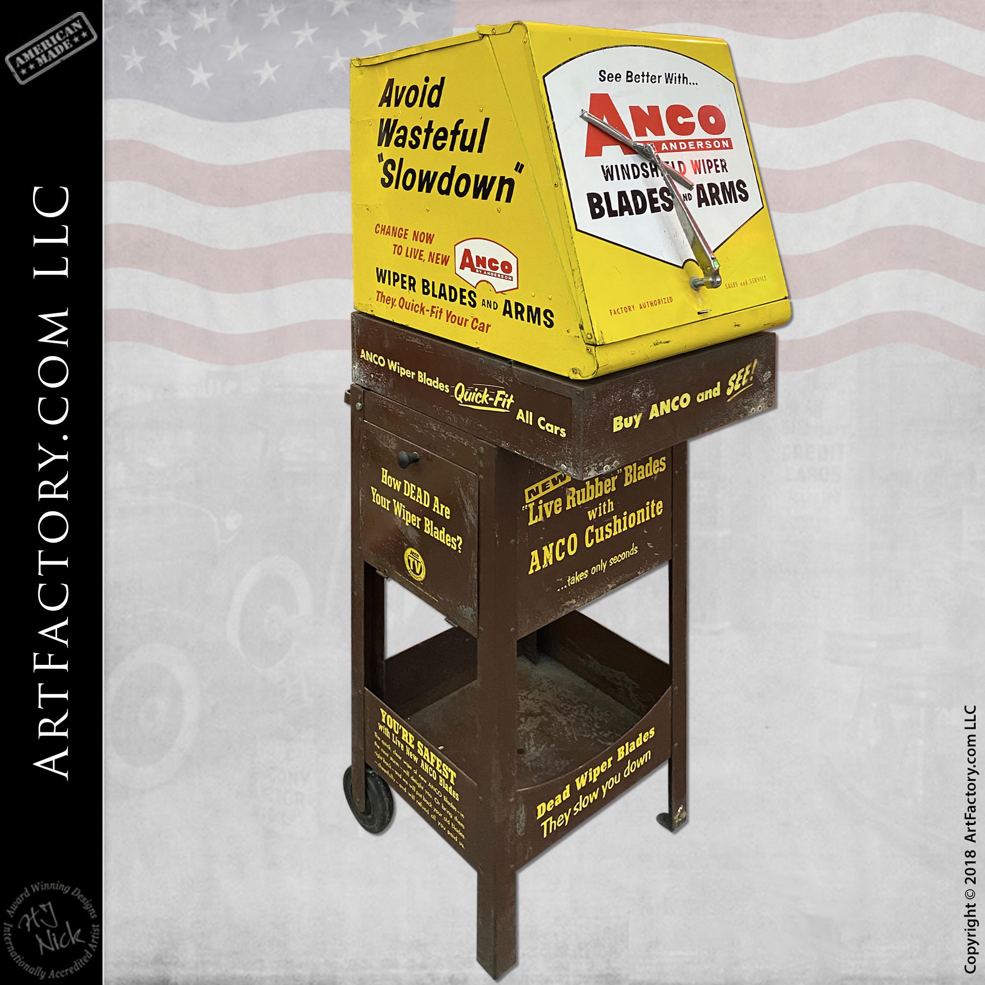 Vintage Anco Wiper Blades Display Stand