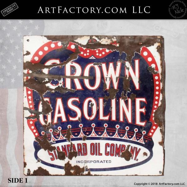 vintage Crown gasoline sign