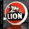Gilbert & Barker Vintage Visible Gas Pump: Model 67 With Lion Oil Globe