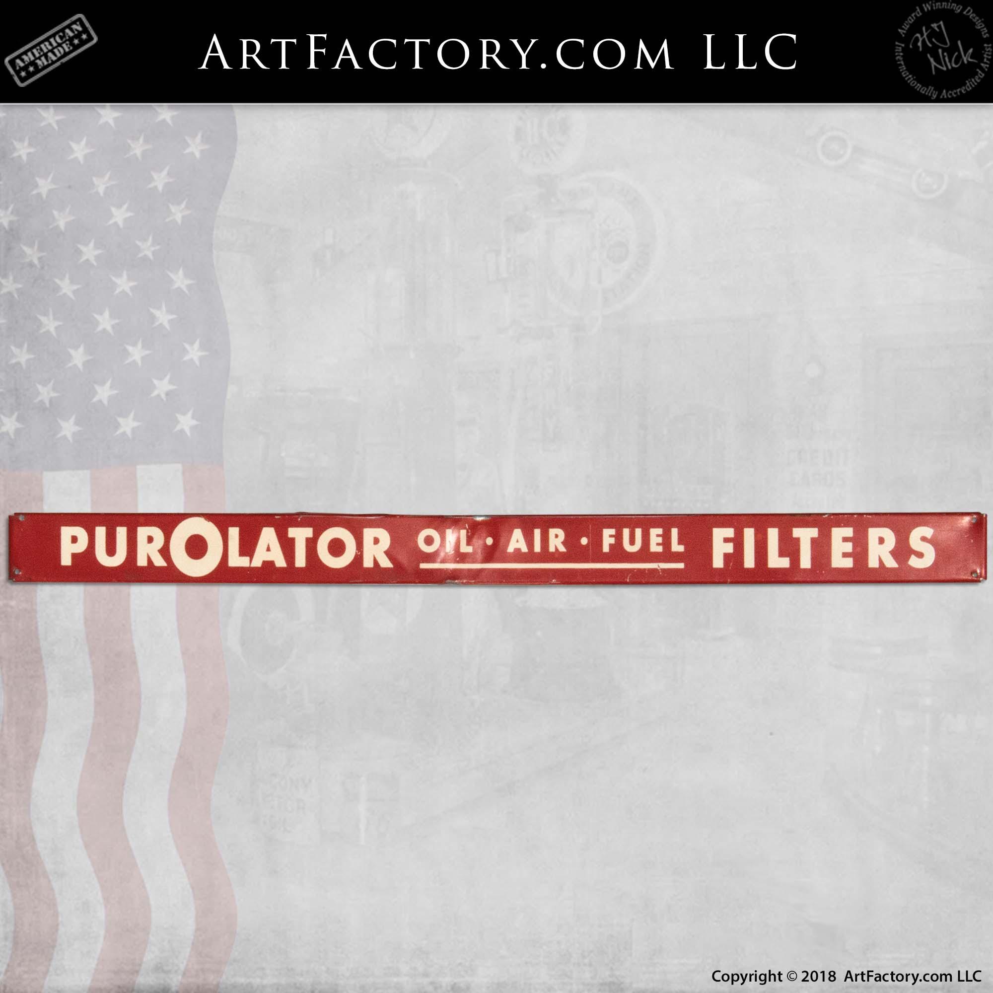 Vintage Purolator Filters Sign