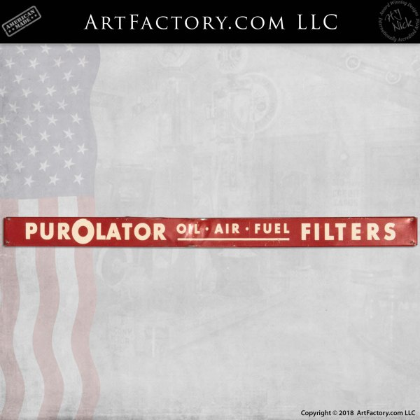 Vintage Purolator Filters Sign