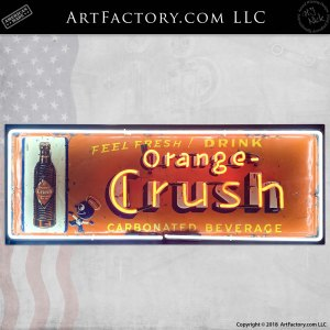 Vintage Orange Crush Neon Soda Sign