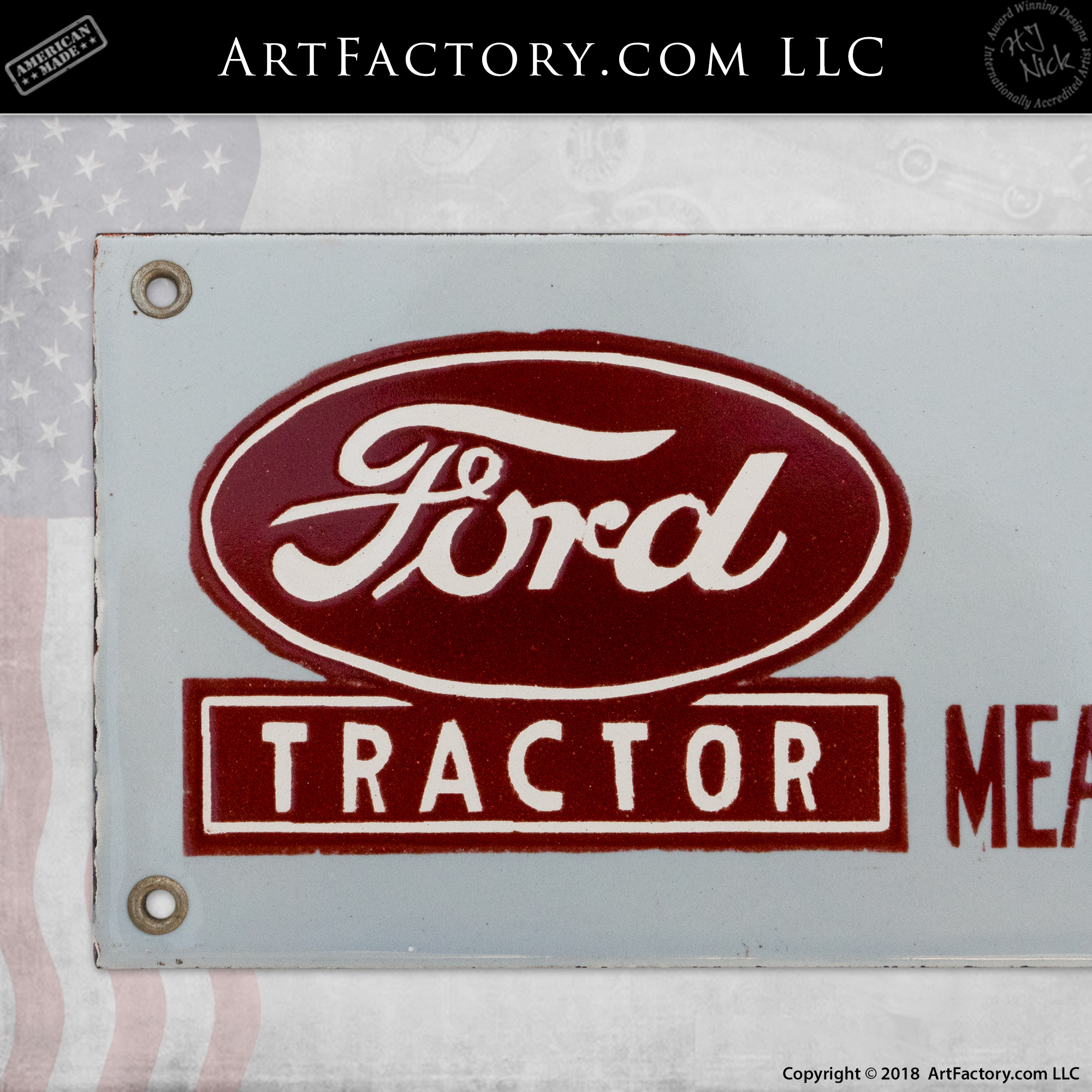 FORD TRACTOR METAL SIGN APO OK