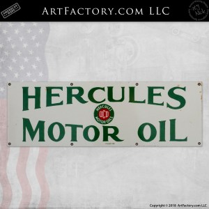 vintage hercules motor oil sign