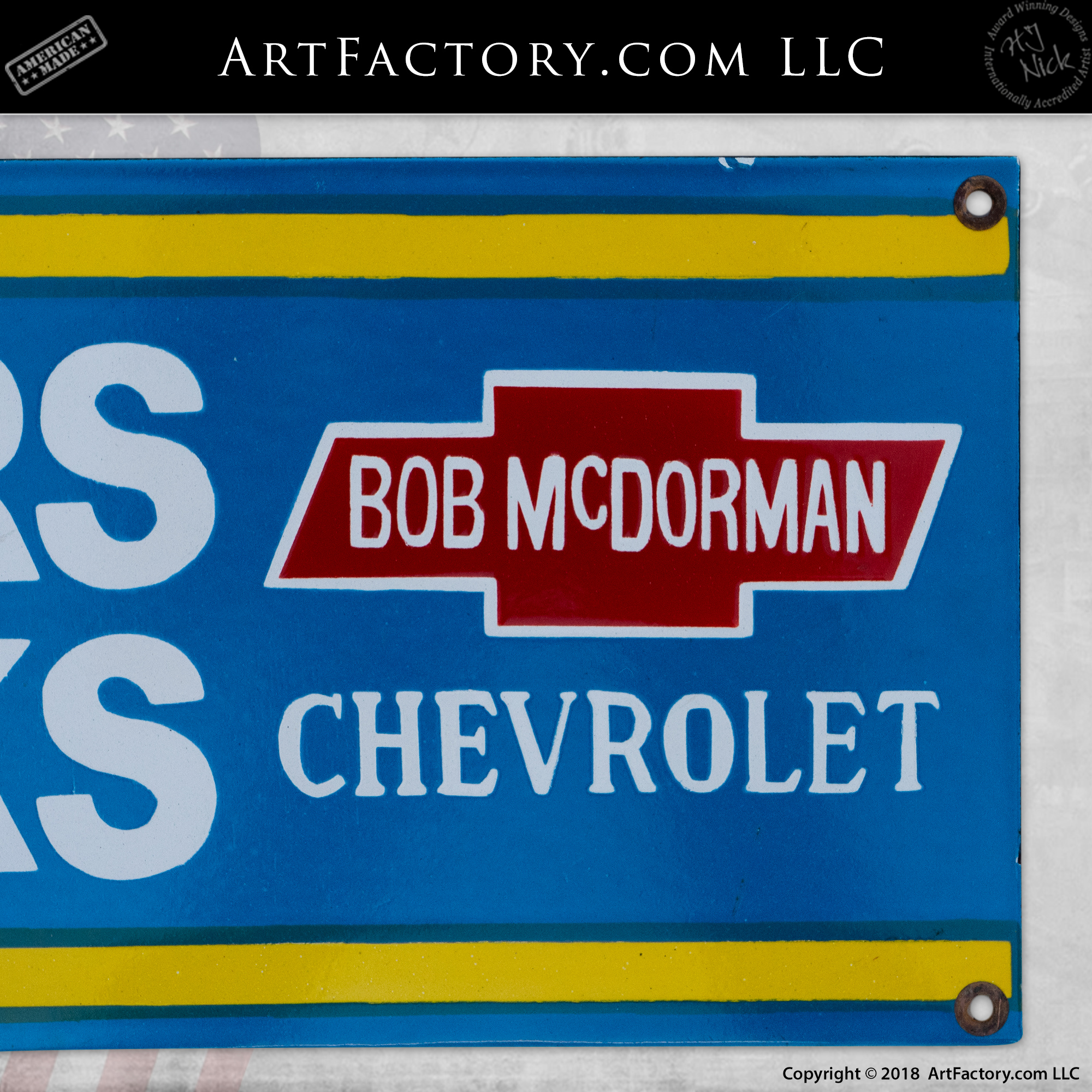 Vintage OK Used Car & Truck Chevrolet Sign
