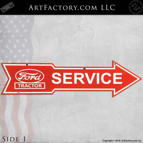 Vintage Ford Tractor Service Arrow