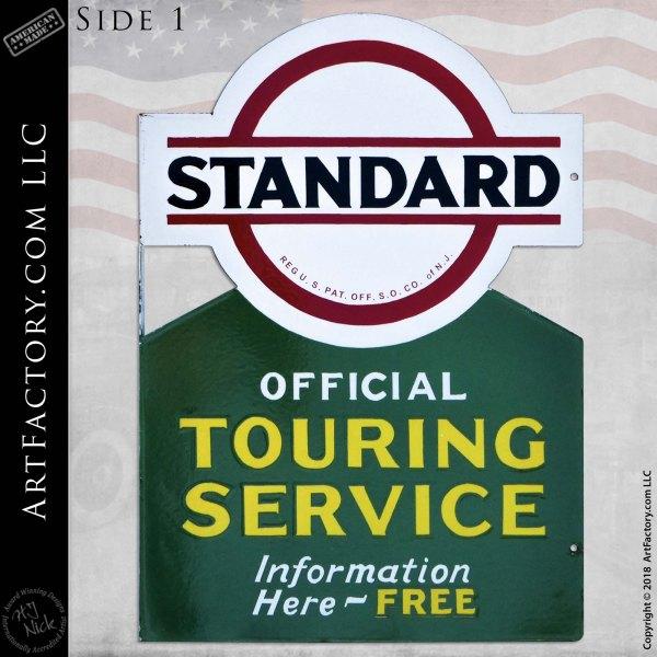 Vintage Standard Touring Service Flange Sign