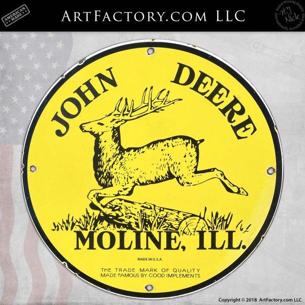 Vintage John Deere Moline, Ill. Sign