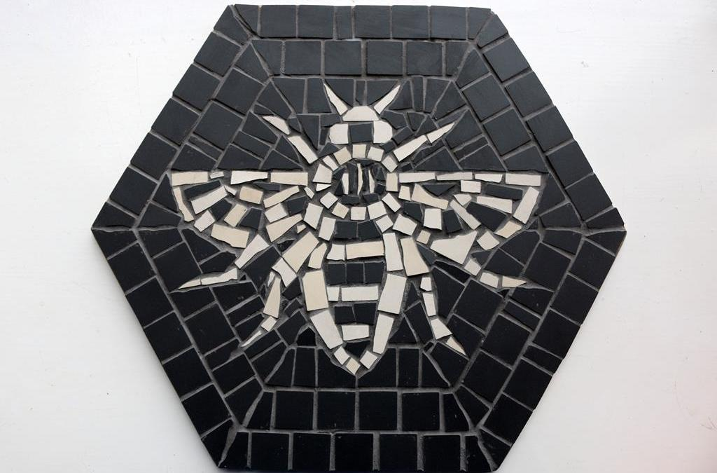 Making a Manchester Bee Mosaic