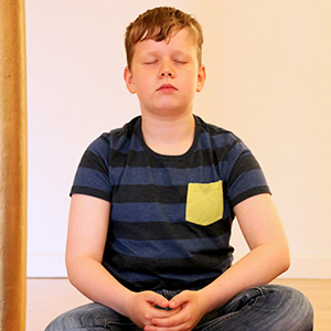 Photo of Meditating Child