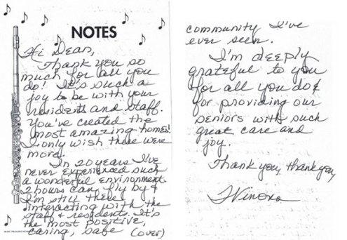 Hand Written Testimonials