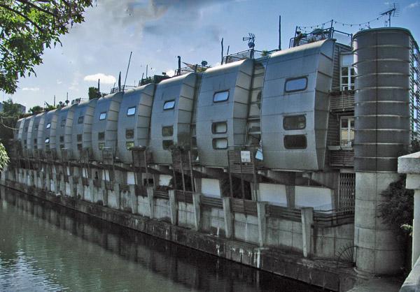 Grand Union Canal Walk Housing London UK