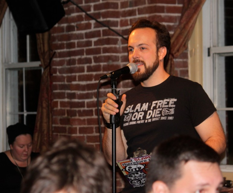 Mark Palos, aka The Colonel, was MC for the first half of Friday night's slam.