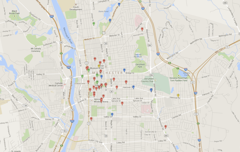 Interactive map showing fire department service for spice-related calls in August.