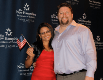 Alessandra Rosa, born in Brazil, and her husband, Kirk. Alessandra became a U.S. citizen on Sept. 19.