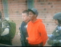 Damian Johnson taken from West High School in handcuffs. Credit: Instagram pretzel_18