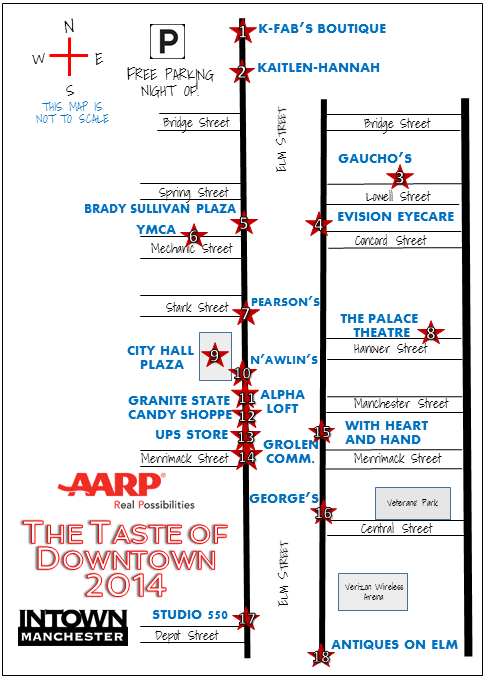 Taste of Downtown 2014 Map