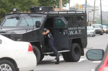 A Manchester Police SWAT vehicle.
