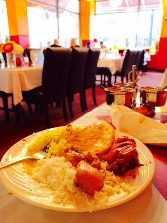 Lunch buffet at Taj India is a delicious deal.