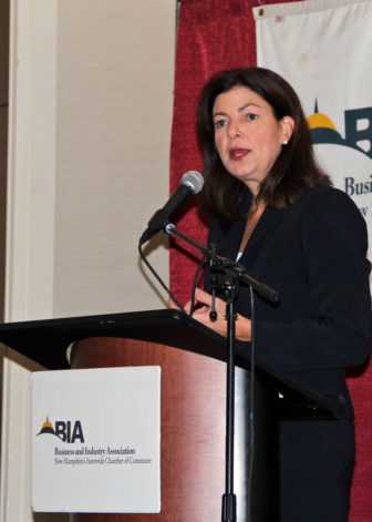 U.S. Sen. Kelly Ayotte addressed summit attendees.