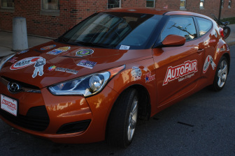 2015 Hyundai Velostar will be awarded to one lucky Manchester high school student for the Make the Grade initiative.