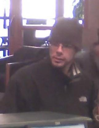 Suspected bank robber.