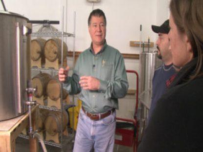 Andy Harthcock explains the distilling process.