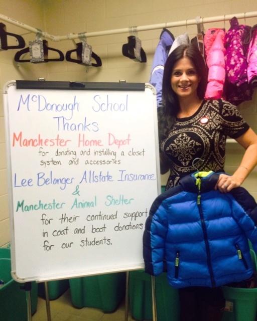 DeLorie Belanger, a teacher at McDonough School, making things happen.
