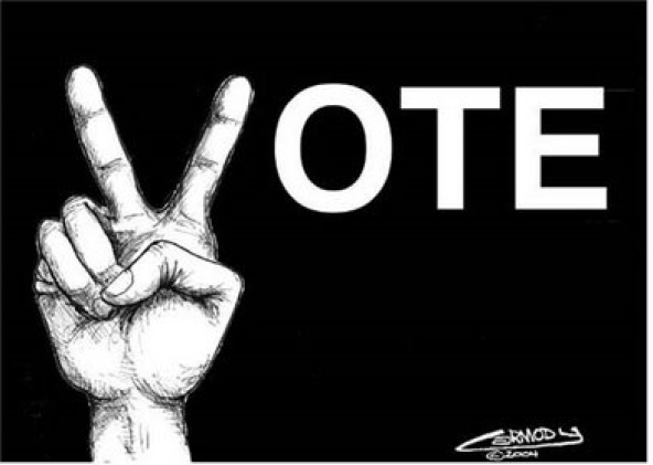 Exercise your right to vote.
