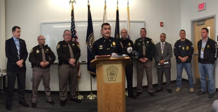 Law enforcement from various agencies worked together on a drug sweep executed Nov. 13, 2014.