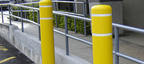 Example of typical bollards, like the ones Polaris Charter School would like to erect.