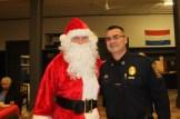 Santa and Chief David Mara.
