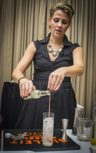 Along with more than 400 spirits available for sampling, NHLC's Distiller's Showcase of Premium Spirits also featured renowned mixologists, like Elayne Duff, head mixologist for Diageo Wine and Spirits, pictured here, who whipped up delicious concoctions throughout the event.