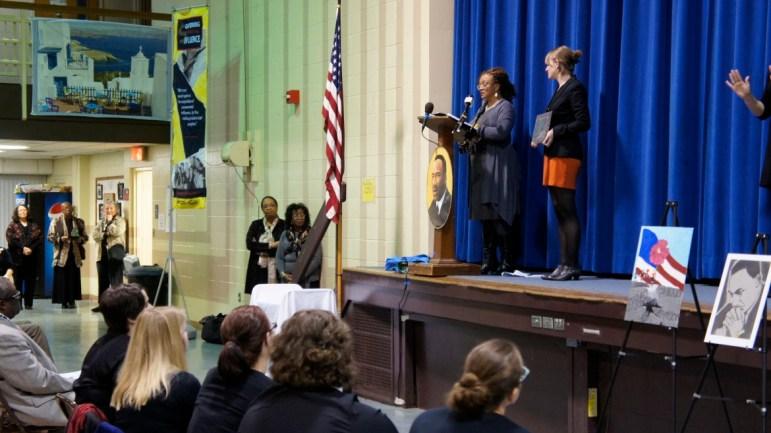 MLK Award recipient, JerriAnne Boggis, Director of the Portsmouth Black Heritage Trail