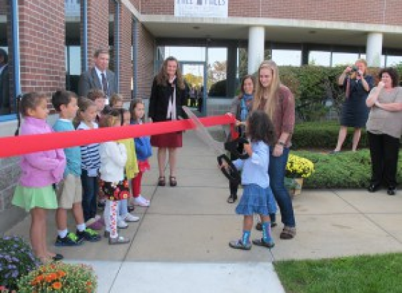 Mills Falls Charter Montessori School ribbon cutting, 2012.