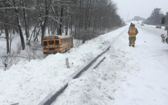 Bus accident on I-93 in Manchester.