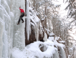 Ice climbing at Flume Gorge in Franconia, anhyone?