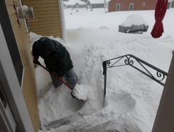 Hubby went out to shovel but he hasn't found the ground yet!