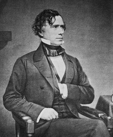 Official portrait of Franklin Pierce.