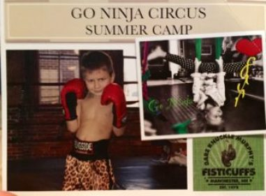 Go Ninja Circus Summer Camp, a unique experience at Murphy's Gym.
