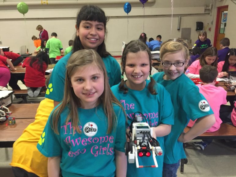 The Awesome Girls Lego Team, with Kaylee Grassi, Yajaira Sanchez-Esquivel, Sandra Bourget and Lily Devries