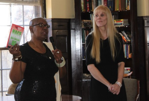 Authors Brenda Baily Lett, left, and Laurielee Woodlock Roy.