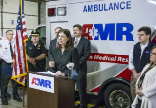 US Sen. Kelly Ayotte announces her support of the Opioid Overdose Reduction Act.