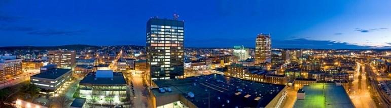ManchVegas - panoramic of downtown