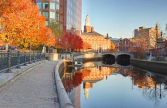 Providence Waterplace Park in Fall