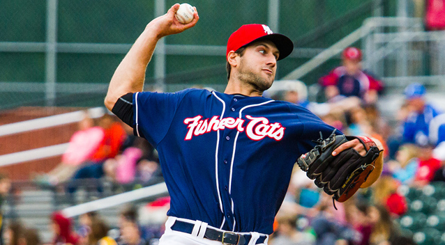 Blake McFarland is among the pitchers suiting up for the spring version of the Fisher Cats.